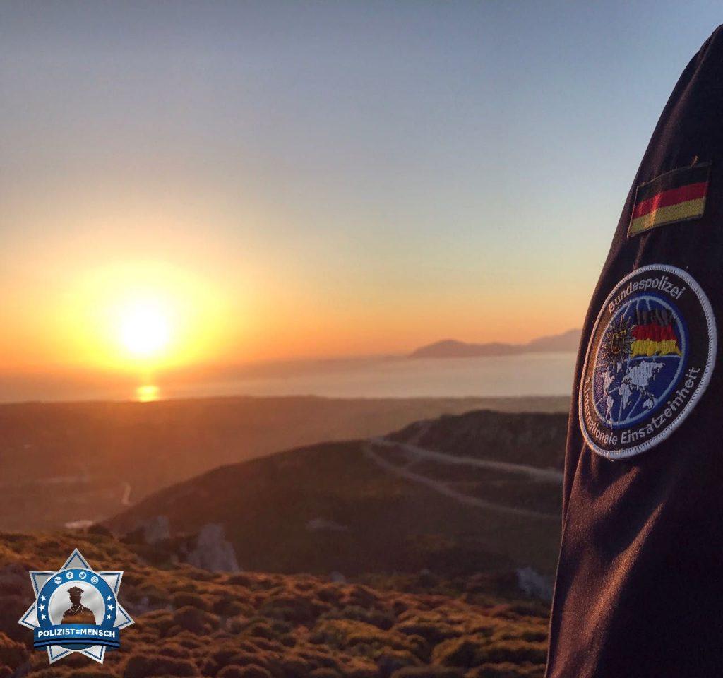 """""""Mit morgendlichen Grüßen von der Frontex-Mission auf der griechischen Insel Kos!"""""""