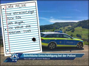Neunjähriger nimmt Reißaus: Schriftliche Entschuldigung bei der Polizei