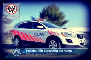 Polizeieinsatz wegen Schlägerei: Polizist fällt kurzzeitig ins Koma