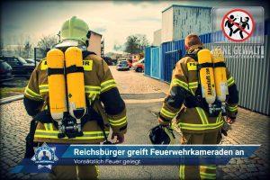 Vorsätzlich Feuer gelegt: Reichsbürger greift Feuerwehrkameraden an
