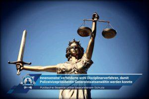 Politische Beamte unter besonderem Schutz: Innensenator verhinderte wohl Disziplinarverfahren, damit Polizeivizepräsidentin Generalstaatsanwältin werden konnte