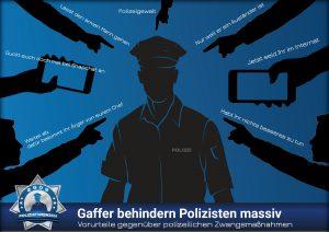 Vorurteile gegenüber polizeilichen Maßnahmen: Gaffer behindern Polizisten massiv