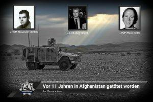 In Memoriam: Vor 11 Jahren in Afghanistan getötet worden