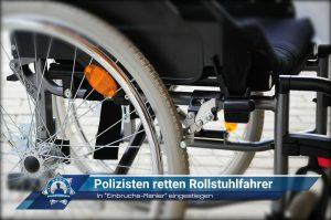 """In """"Einbruchs-Manier"""" eingestiegen: Polizisten retten Rollstuhlfahrer"""
