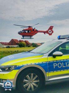 Polizeiunterstützung für Christoph 4 in der Region Hannover