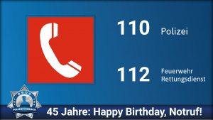 45 Jahre: Happy Birthday, Notruf! ☎️