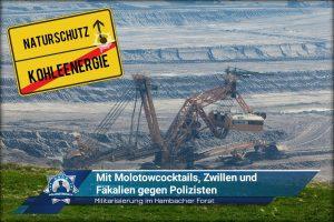 Militarisierung im Hambacher Forst: Mit Molotowcocktails, Zwillen und Fäkalien gegen Polizisten