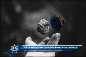 Nach Streitigkeit mit Pflastersteinen angegriffen: Polizisten mussten Einsatz der Dienstwaffe androhen