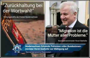Bemerkenswerte Resolution: Niedersachsens führende Polizisten rufen Bundesinnenminister zur Mäßigung auf