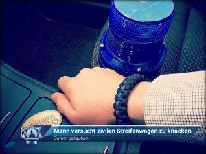 Dumm gelaufen: Mann versucht zivilen Streifenwagen zu knacken