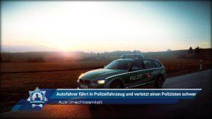 Aus Unachtsamkeit: Autofahrer fährt in Polizeifahrzeug und verletzt einen Polizisten schwer
