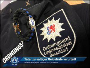 Widerstand gegen Vollstreckungsbeamte: Täter zu saftiger Geldstrafe verurteilt