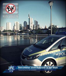 Personenkontrolle eskaliert: Betrunkener stößt Polizistin in den Main