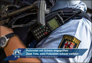 Schrecklicher Einsatzverlauf: Polizisten mit Schere angegriffen