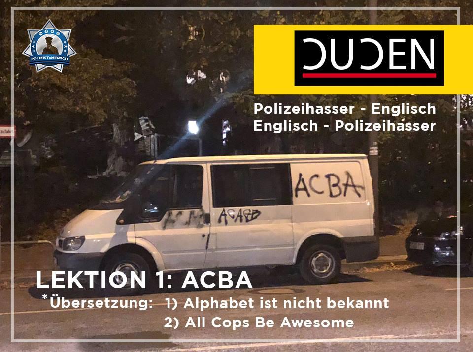 Neu und nicht in unserem Shop erhältlich: Der Polizeihasser-Übersetzter