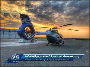 Hubschrauberbesatzung gab entscheidenden Hinweis: Aufwändige, aber erfolgreiche Lebensrettung