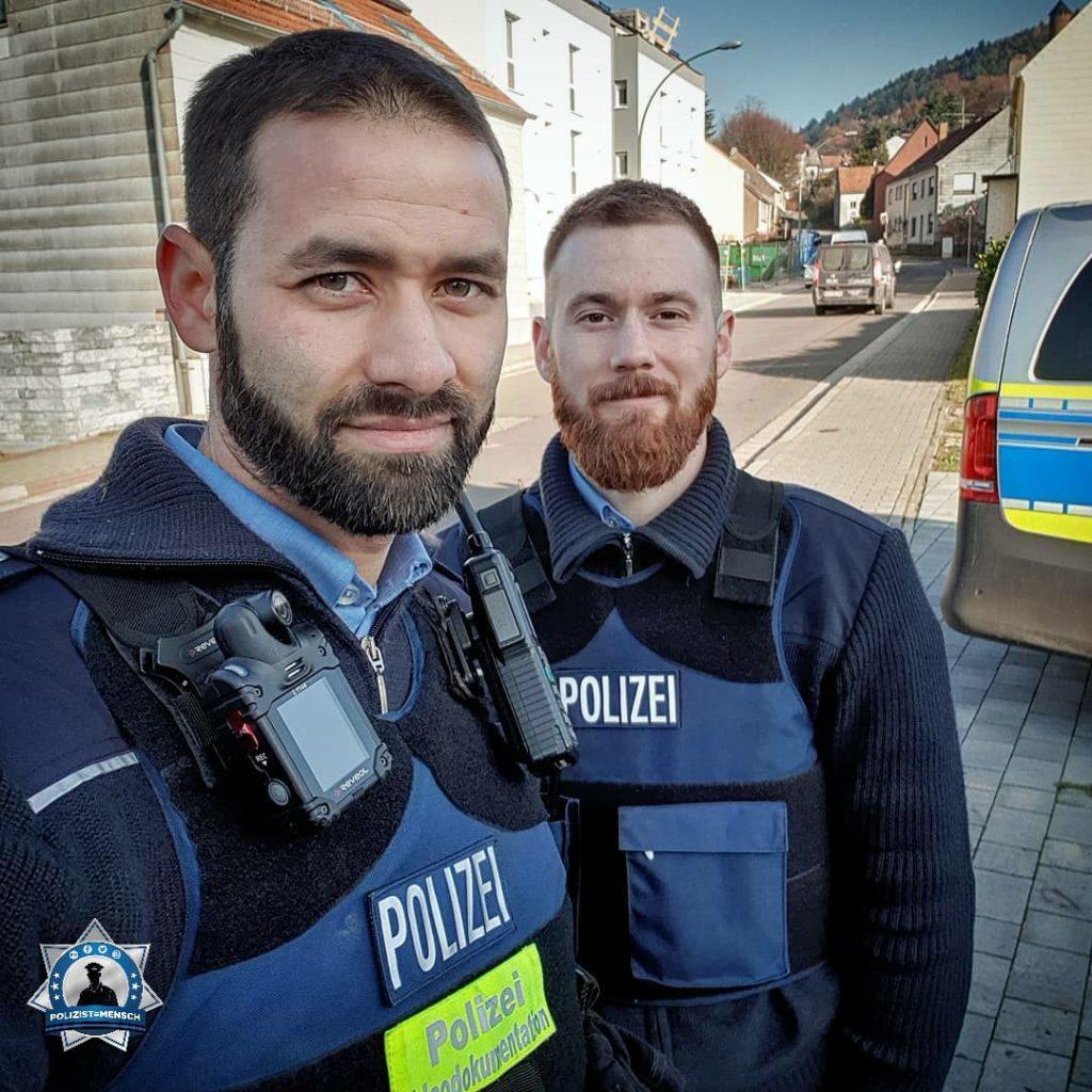 """""""Christopher und Patrick auf Streife im Saarland. Grüße an alle Kolleginnen und Kollegen, passt auf euch auf!"""""""