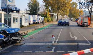 Folgenreiche Einsatzfahrt: Eine Schwer- und drei Leichtverletzte