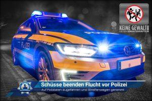 Auf Polizisten zugefahren und Streifenwagen gerammt: Schüsse beenden Flucht vor Polizei