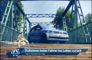 Nach Verkehrsunfall: Polizisten holen Fahrer ins Leben zurück