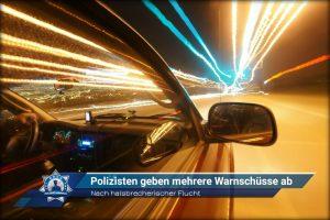 Nach halsbrecherischer Flucht: Polizisten geben mehrere Warnschüsse ab