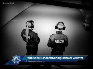 Schussverletzung: Polizist bei Einsatztraining schwer verletzt