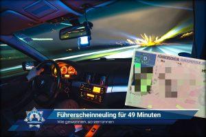 Wie gewonnen, so zerronnen: Führerscheinneuling für 49 Minuten