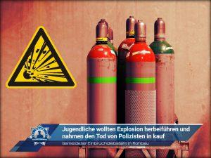 Gemeldeter Einbruchdiebstahl in Rohbau: Jugendliche wollten Explosion herbeiführen und nahmen Tod von Polizisten in kauf