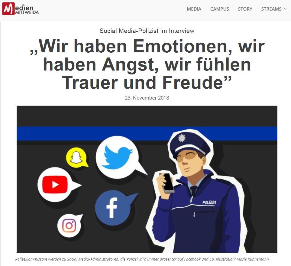 Polizist=Mensch-Gründer im Interview: Über Social Media, die Seite und Gefühle
