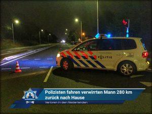Verloren in den Niederlanden: Polizisten fahren verwirrten Mann 280 km zurück nach Hause