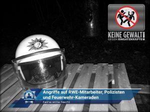 Keine stille Nacht im Hambacher Forst: Angriffe auf RWE-Mitarbeiter, Polizisten und Feuerwehr-Kameraden