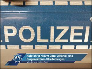 Wieder auf freiem Fuß: Autofahrer rammt unter Alkohol- und Drogeneinfluss Streifenwagen