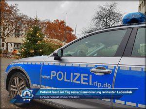 Einmal Polizist, immer Polizist: Polizist fasst am Tag seiner Pensionierung renitenten Ladendieb