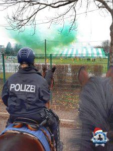 Weihnachtsgruß der Polizeireiterstaffel Sachsen