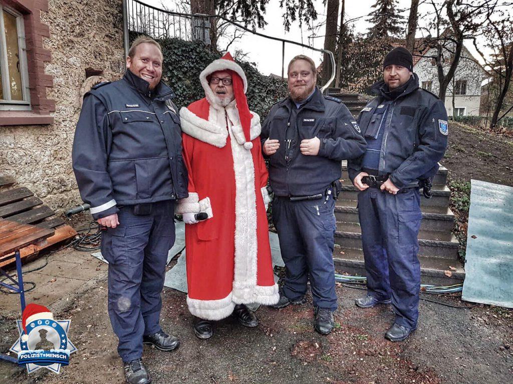Mit dem Nikolaus auf dem Weihnachtsmarkt in Rüsselsheim