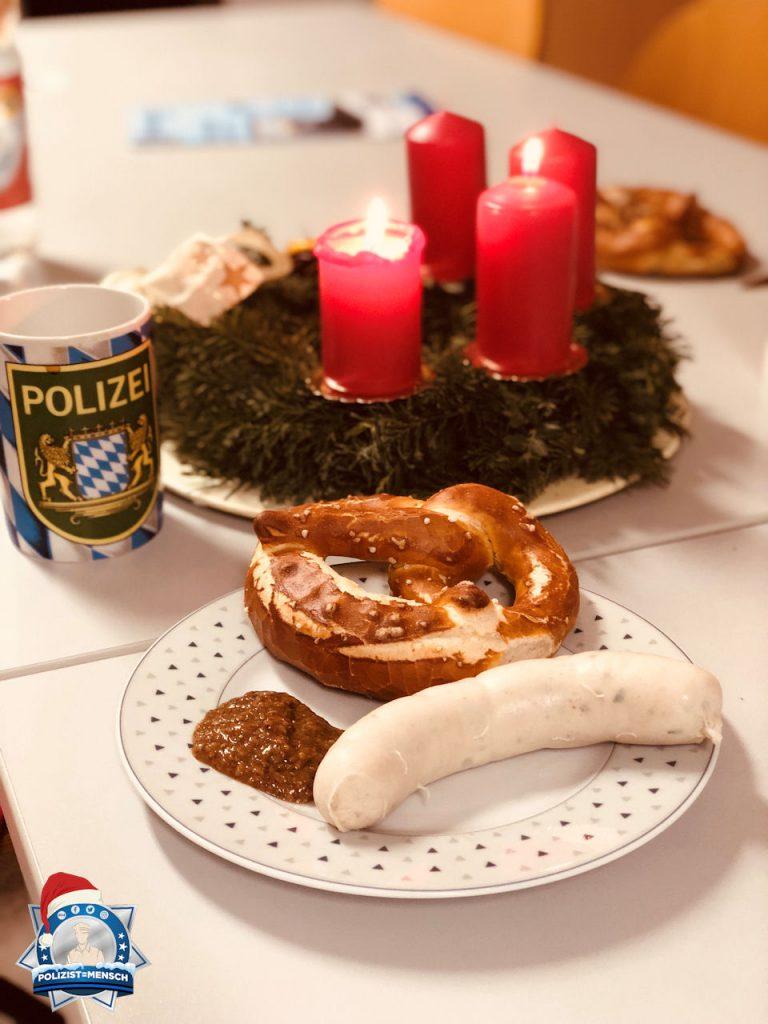 """""""Hallo liebes Polizist=Mensch-Team, ich wünsche euch und allen anderen einen schönen 2. Advent! Grüße aus Bobingen! Theresa"""""""