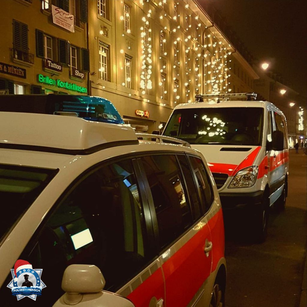 """""""Impression aus dem nächtlichen Einsatz der Kantonspolizei Bern. Liebe Grüsse aus der Schweiz, Laurent"""""""