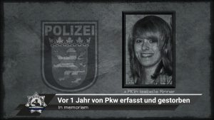 In memoriam: Vor einem Jahr von Pkw erfasst und gestorben
