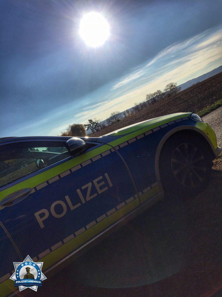 """""""Bei traumhaftem Wetter und Sonnenstrahlen kurz verschnaufen, bevor es zum nächsten Einsatz geht. Kollegiale Grüße aus dem PP Ludwigsburg, Tobias."""""""