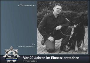 In memoriam: Vor 20 Jahren im Einsatz erstochen