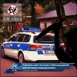Gemeiner Hinterhalt: Polizisten unter Vorwand in die Wohnung gelockt und von hinten niedergestochen