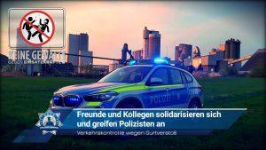 Verkehrskontrolle wegen Gurtverstoß: Freunde und Kollegen solidarisieren sich und greifen Polizisten an