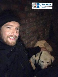 Vier Wochen Odyssee: Polizisten fangen entlaufenen Hund ein