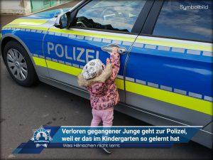 Was Hänschen nicht lernt: Verloren gegangener Junge geht zur Polizei, weil er das im Kindergarten so gelernt hat