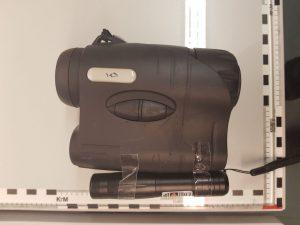 Mit Laser Polizeihubschrauberbesatzung gefährdet: Sicherstellung und Feststellung des Beschuldigten