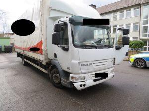 Lieferung frei Haus: Transporterfahrer liefert Öl zur Autobahnpolizei und fällt mit mehreren Verstößen auf