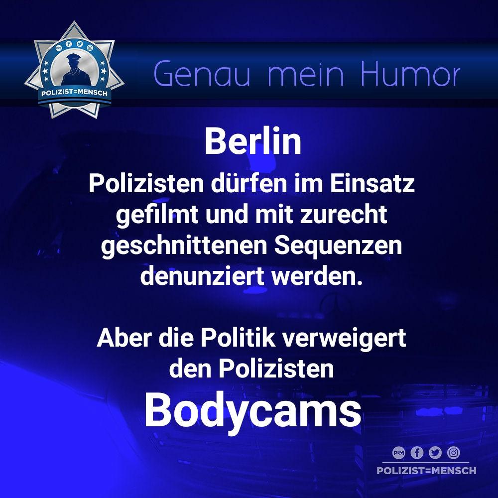 """Aus der Kategorie """"Genau mein Humor"""": Berlin und die Bodycams"""