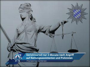 Priorisiertes Verfahren: Gerichtsurteil nur zwei Monate nach Angriff auf Rettungsassistenten und Polizisten