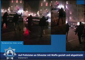 Statement: Auf Polizisten an Silvester mit Waffe gezielt und abgedrückt