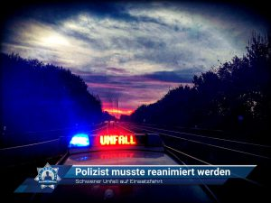 Schwerer Unfall auf Einsatzfahrt: Polizist musste reanimiert werden